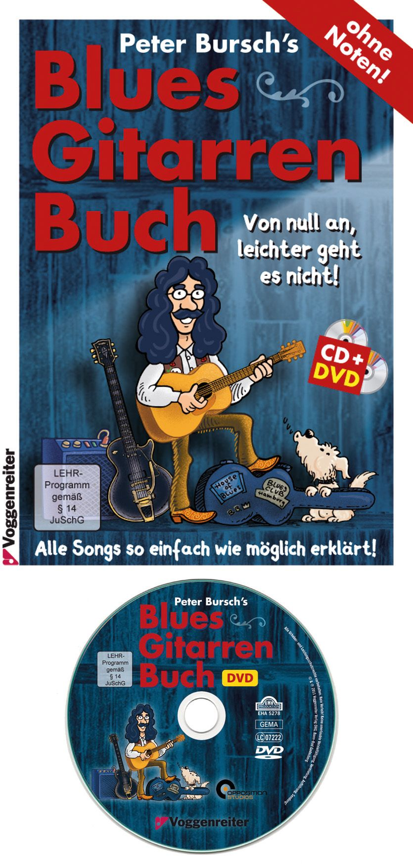 VOGGENREITER Voggenreiter Gitarre lernen mit Peter Bursch, »Blues-Gitarrenbuch«