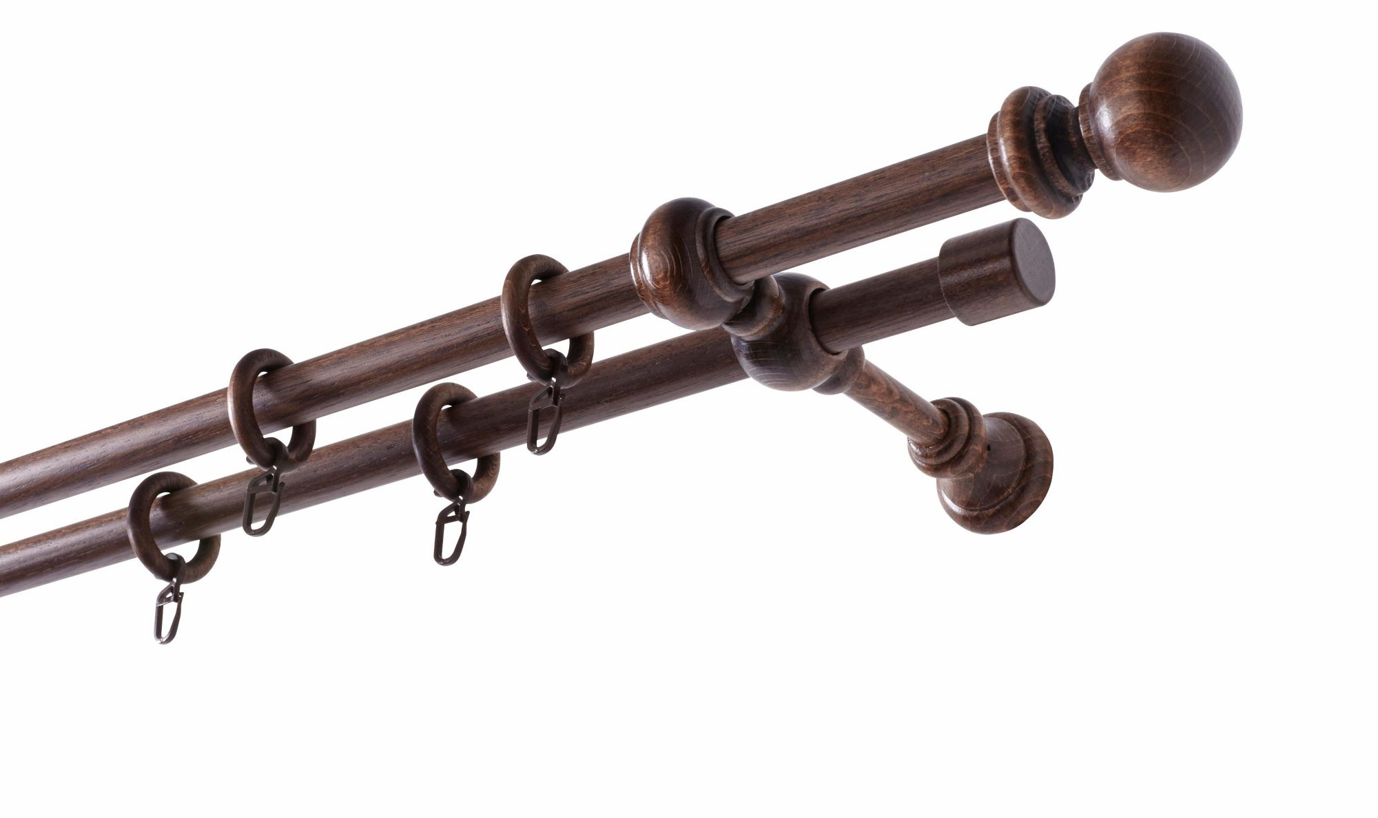GARESA Echtholz-Gardinenstange »Barock«, nach Maß