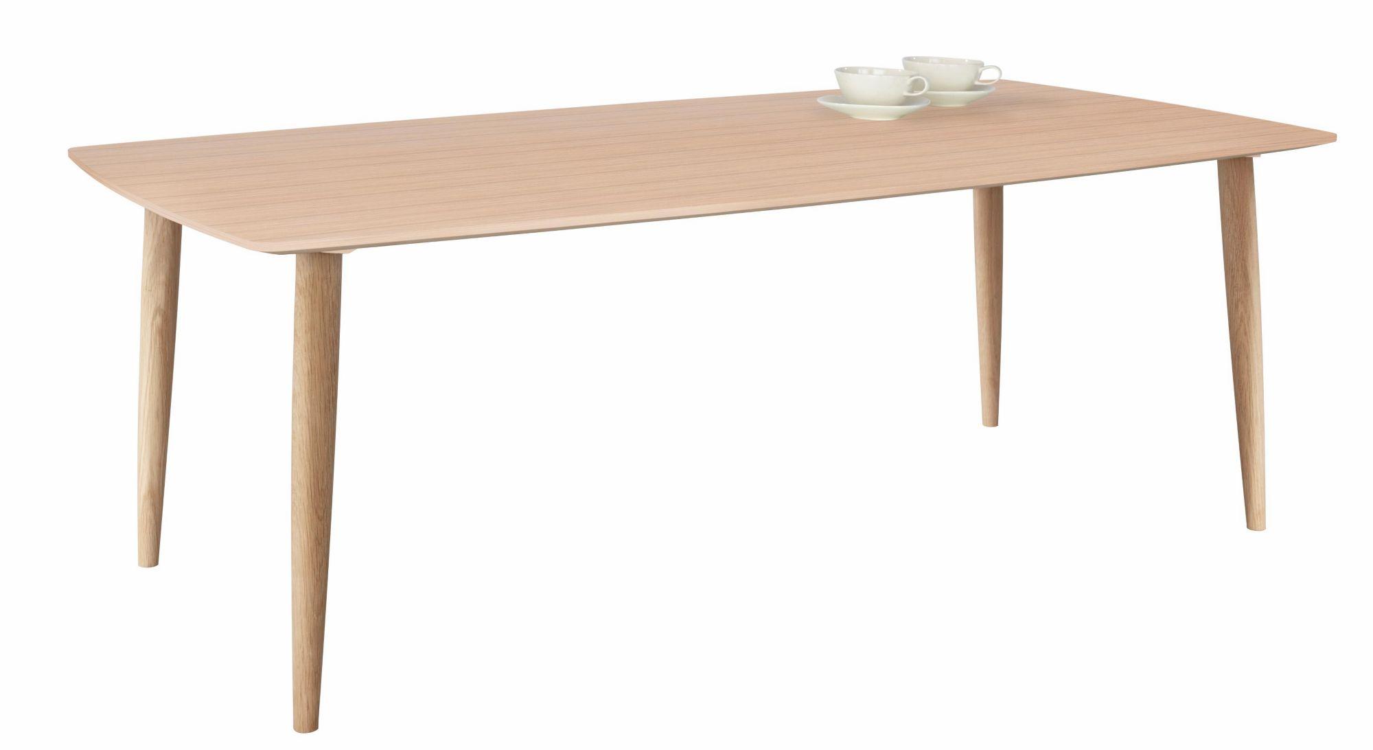 ANDAS andas Couchtisch »Boat«, white oak massiv, Tischplatte in Bootsform