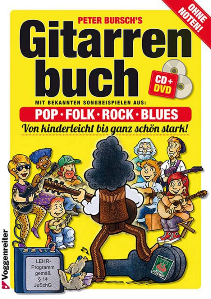 VOGGENREITER Voggenreiter Gitarre lernen mit Peter Bursch, »Peter Bursch´s Gitarrenbuch«
