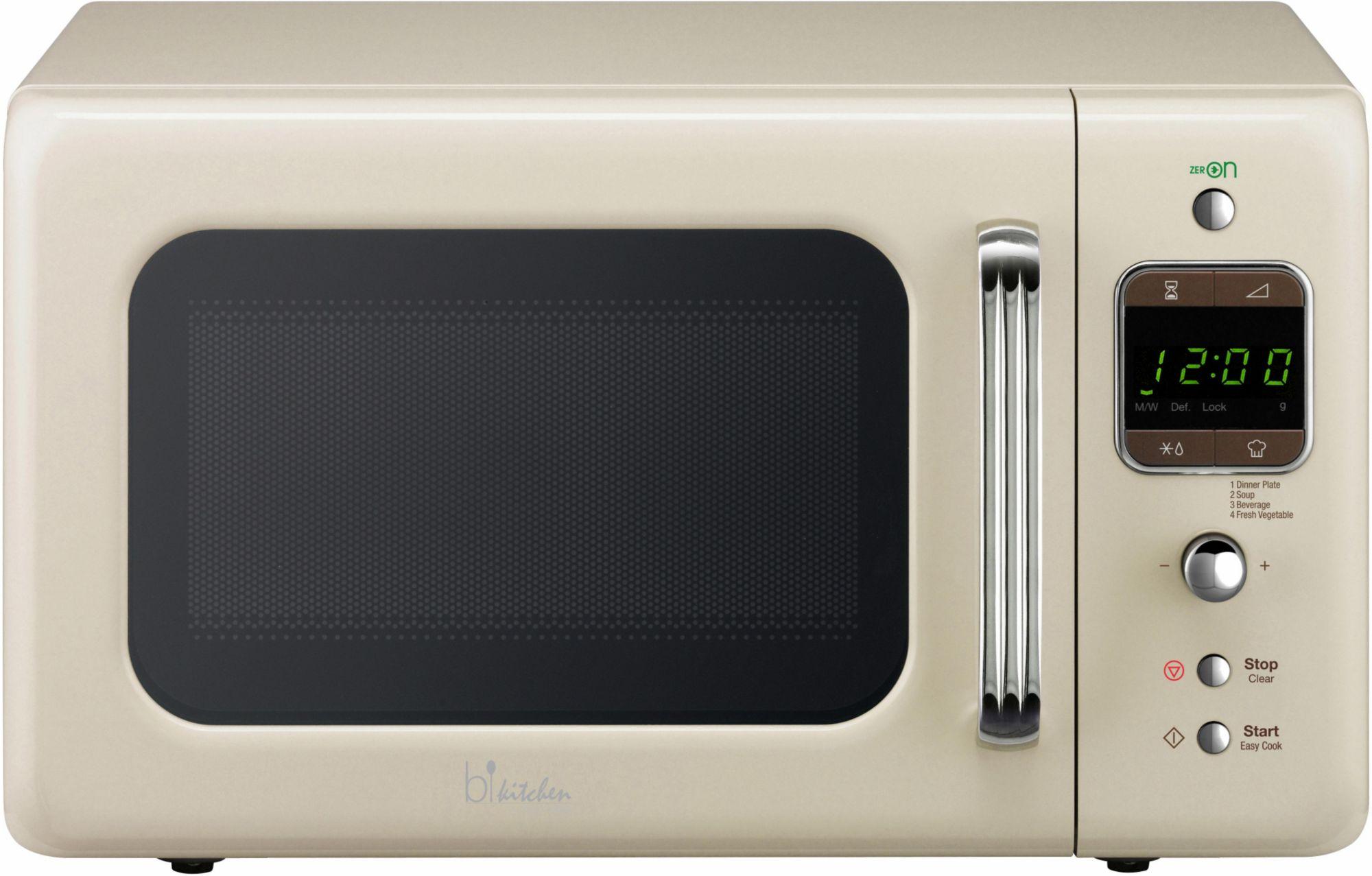 BKITCHEN bkitchen Design Mikrowelle Cook 800, 20 Liter Garraum, 800 Watt, beige