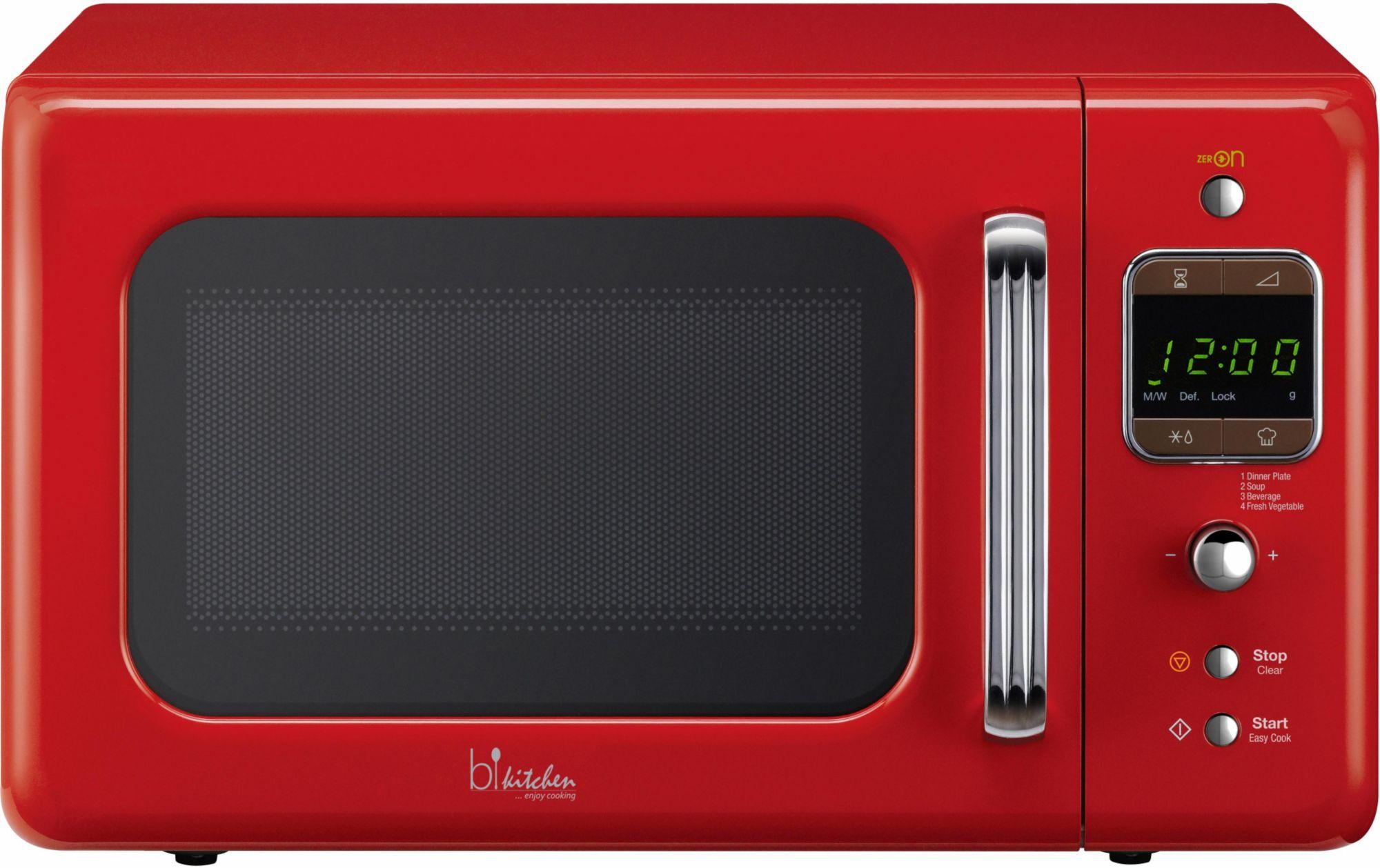 BKITCHEN bkitchen Design Mikrowelle Cook 800, 20 Liter Garraum, 800 Watt, rot
