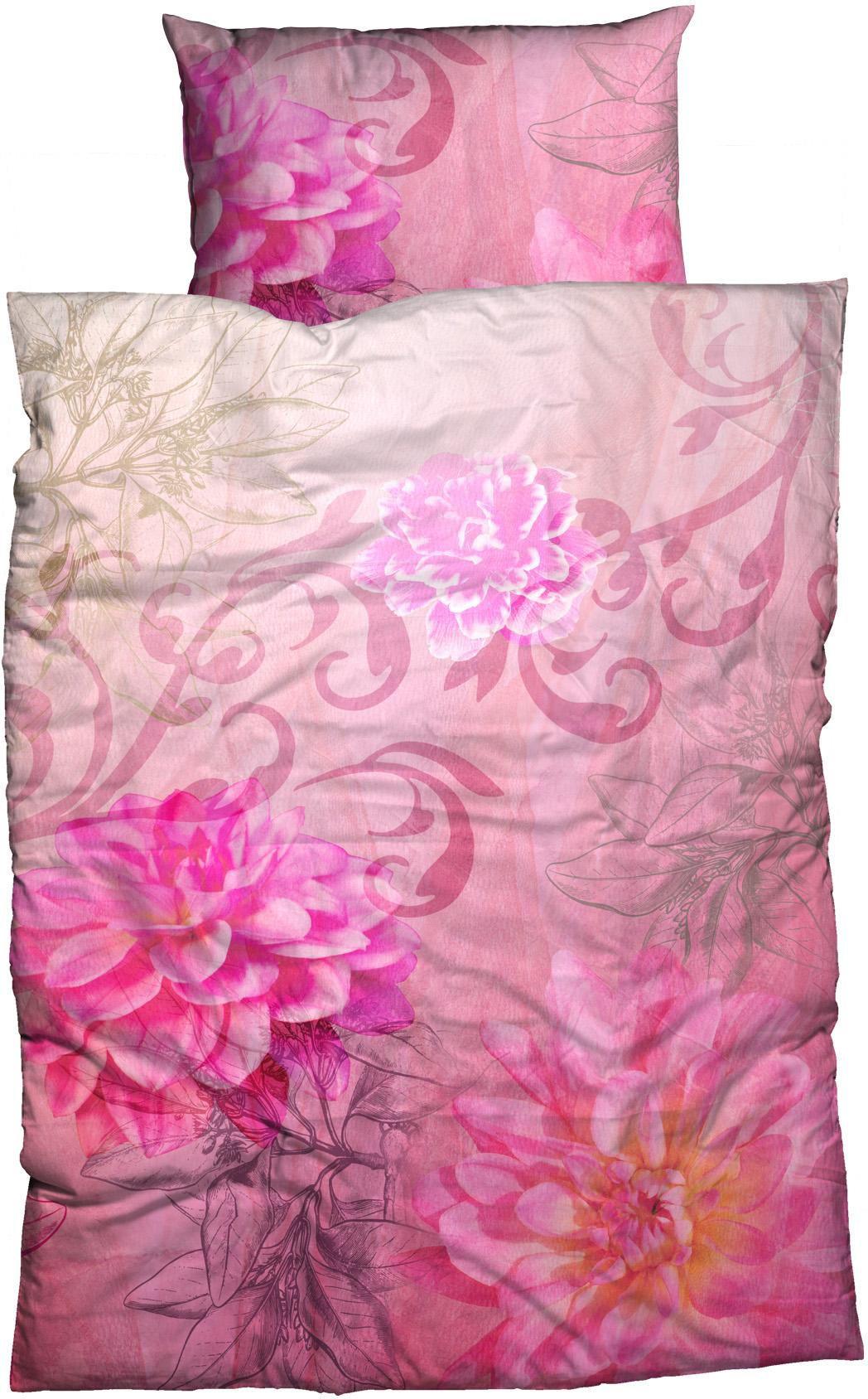 CASATEX Bettwäsche, Casatex, »Violetta Flower«, mit Blütenmotiv