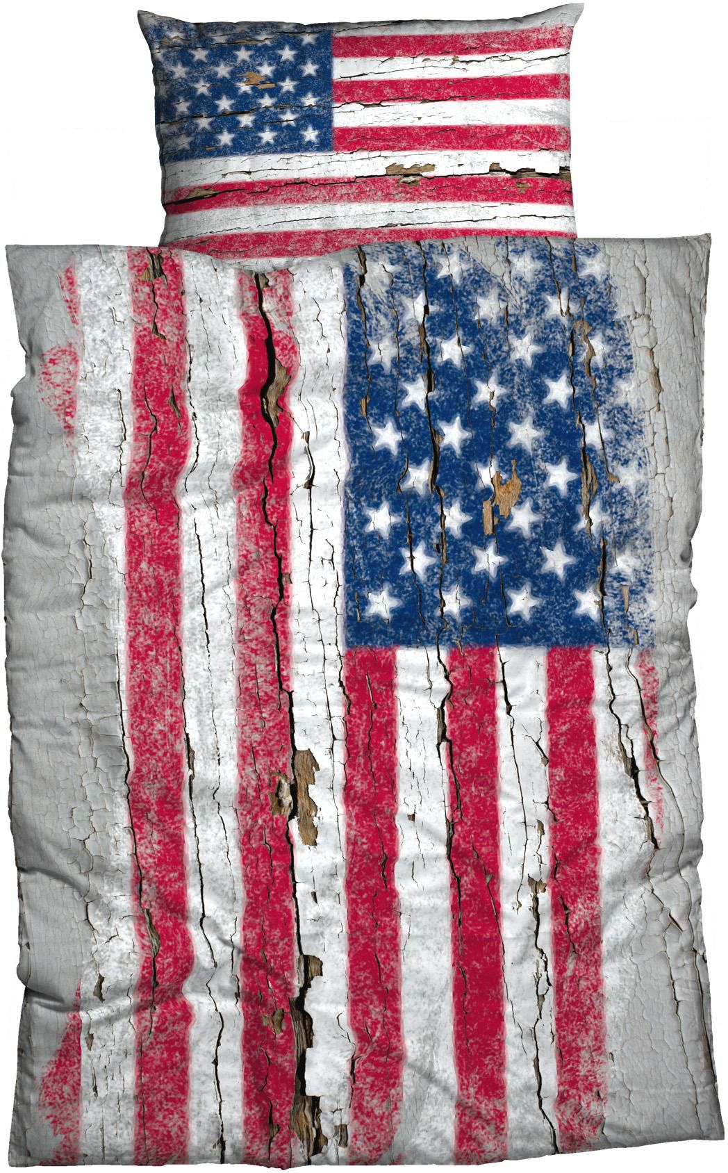 CASATEX Bettwäsche, Casatex, »Stars & Stripes«, mit Flagge