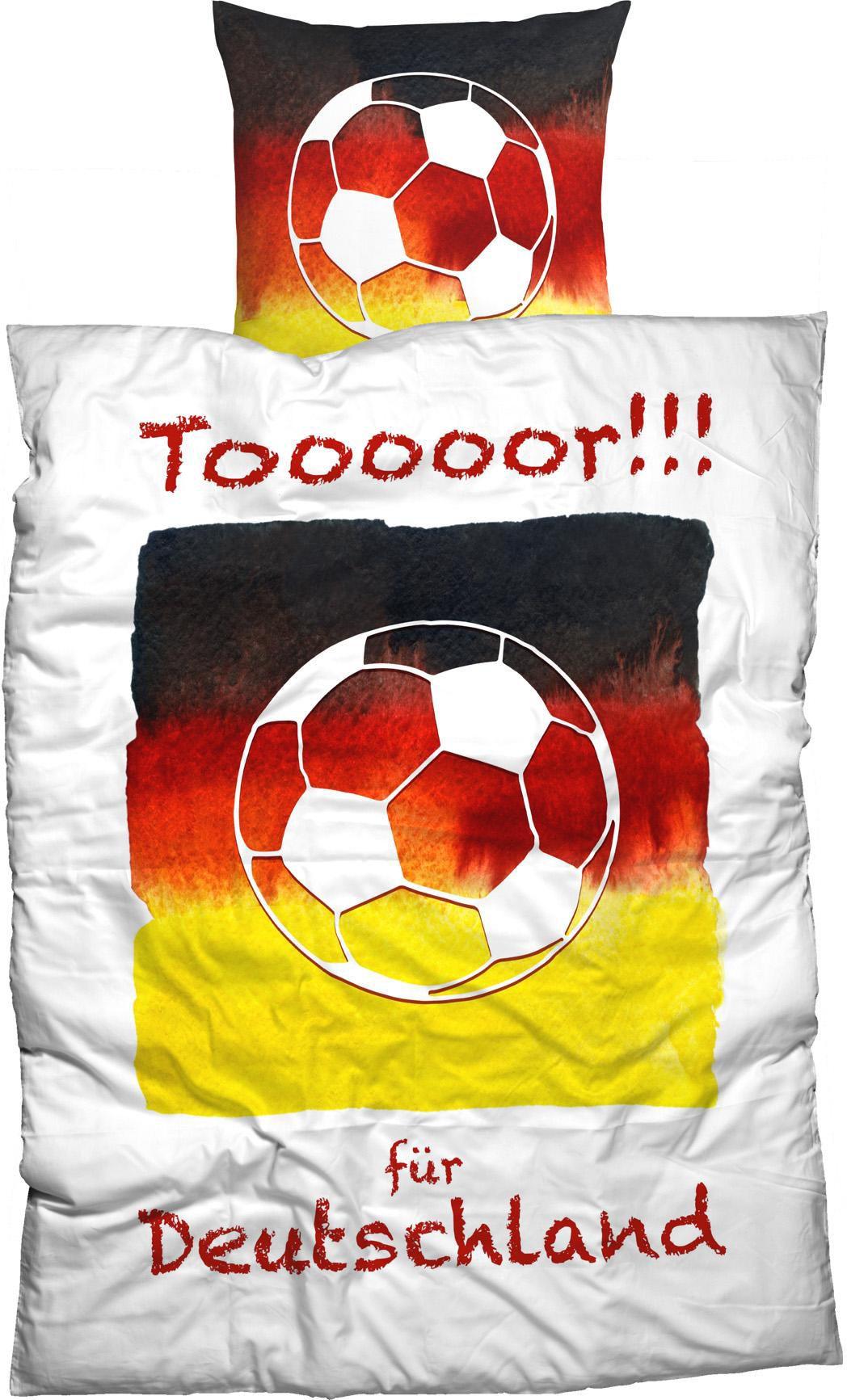 CASATEX Bettwäsche, Casatex, »Tooooor«, mit Fußball Motiv