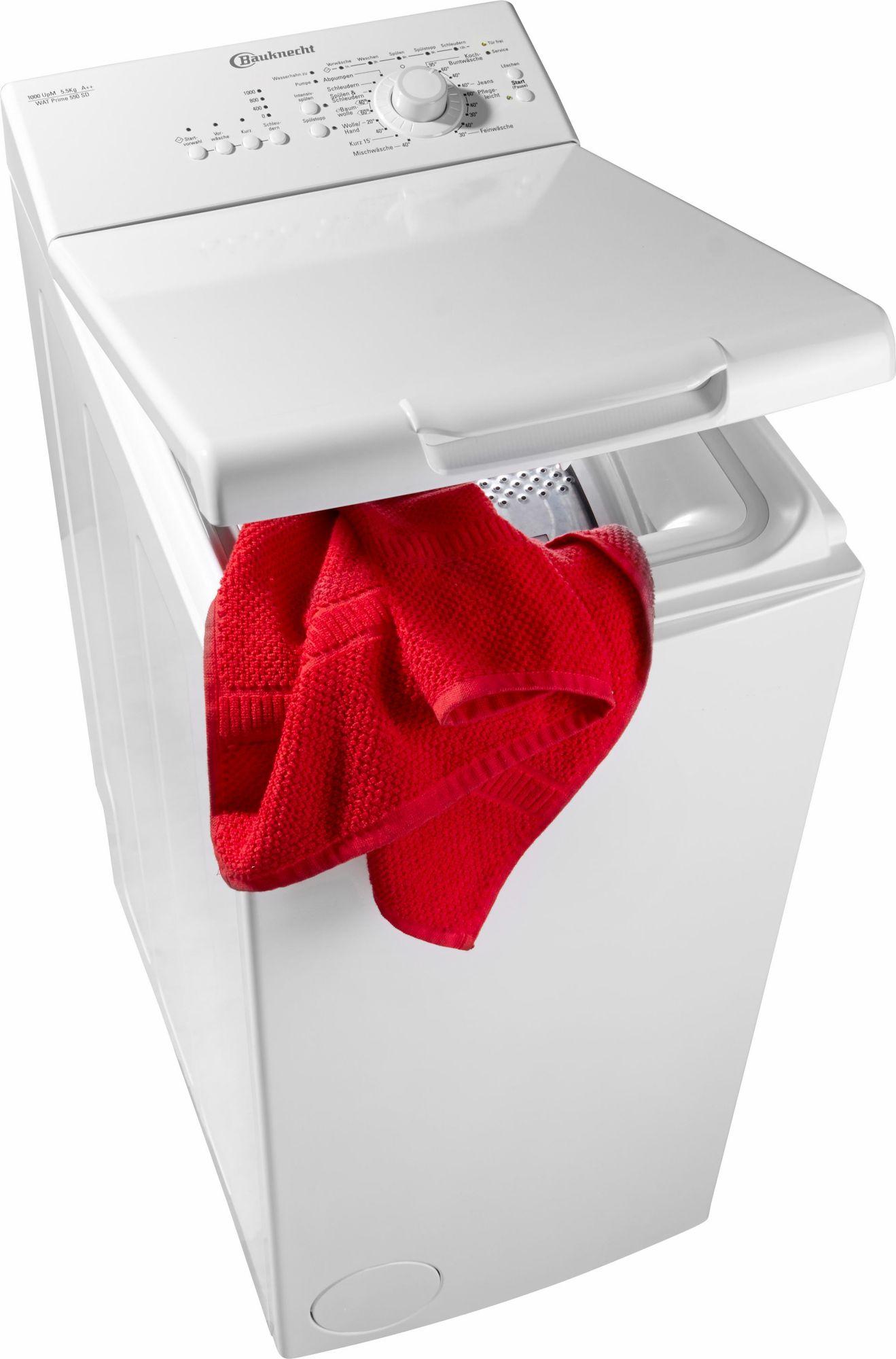BAUKNECHT  Waschmaschine Toplader WAT Prime 550 SD, A++, 5,5 kg, 1000 U/Min