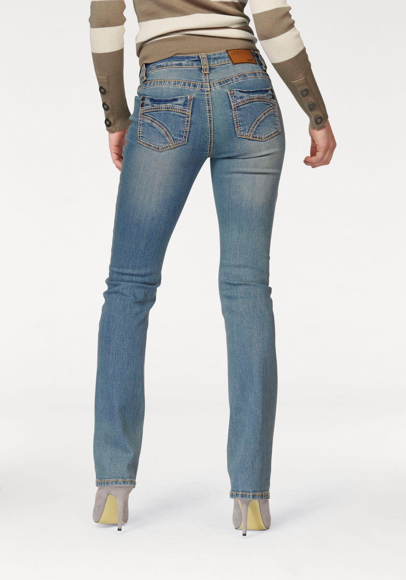 ARIZONA Arizona Gerade Jeans »Kontrastnähte«
