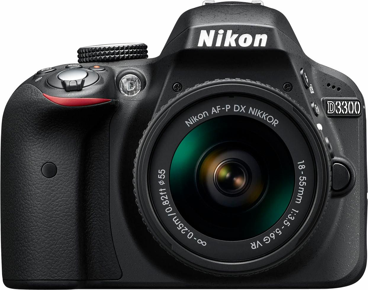 NIKON .Nikon D3300 Kit AF-P DX 18-55mm VR Spiegelreflexkamera schwarz