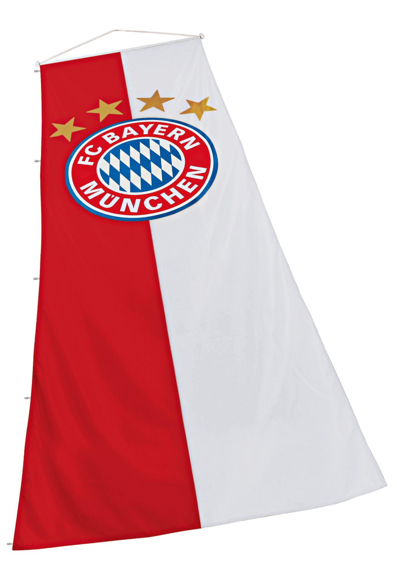 FC BAYERN FC Bayern München Fahne, »FC Bayern Hissfahne Logo XL 150x400 cm«
