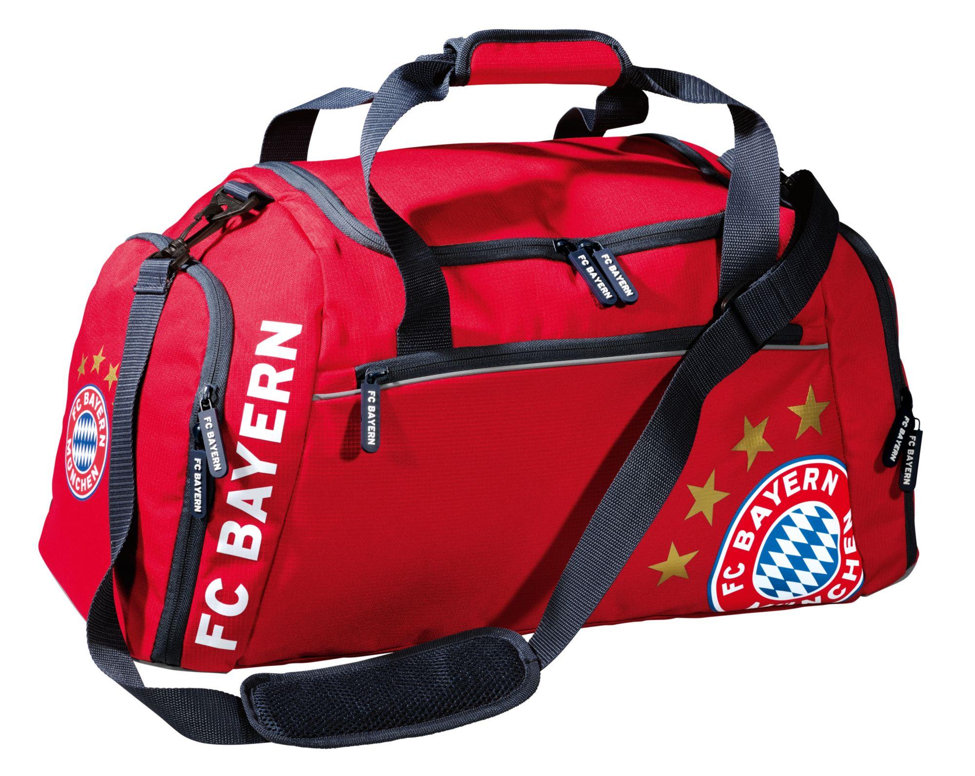 FC BAYERN FC Bayern München Reisetasche rot