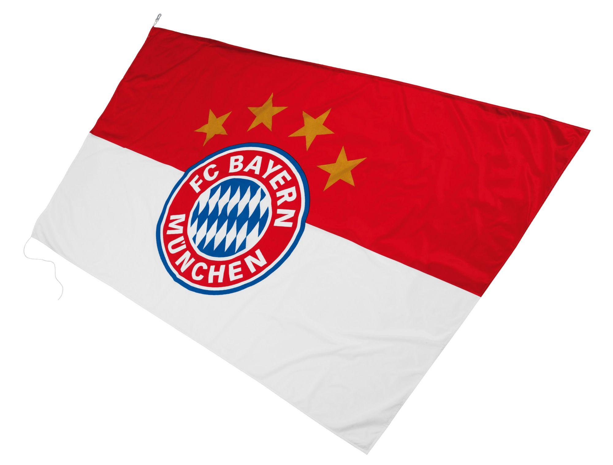 FC BAYERN FC Bayern München Fahne, »FC Bayern Hissfahne Logo 250x150 cm«