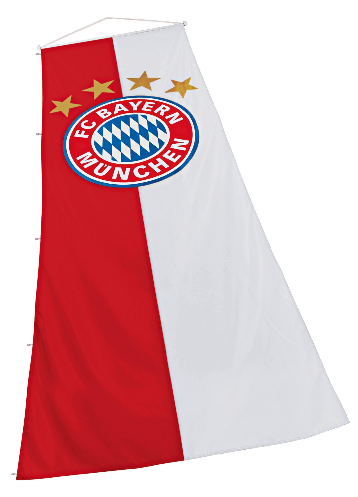 FC BAYERN FC Bayern München Fahne, »FC Bayern Bannerfahne 120x300 cm«