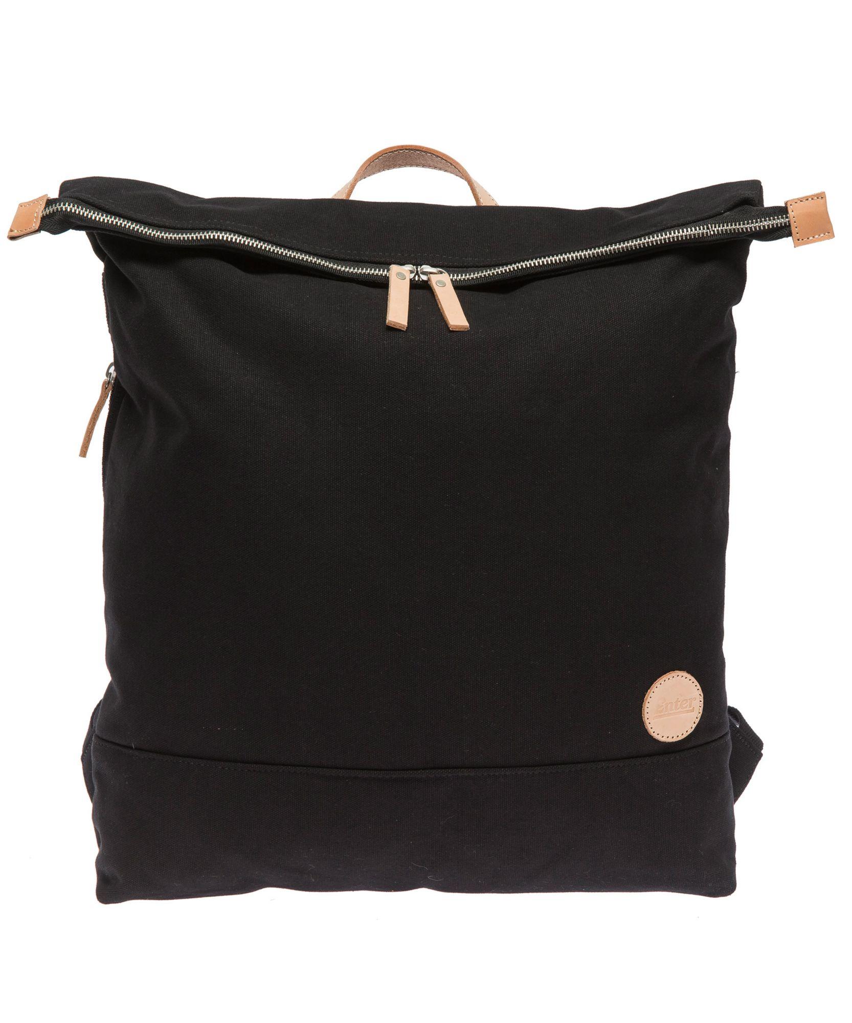 ENTER Enter Rucksack mit Laptop-Trennwand, »Top Zip Backpack, Black/Natural«