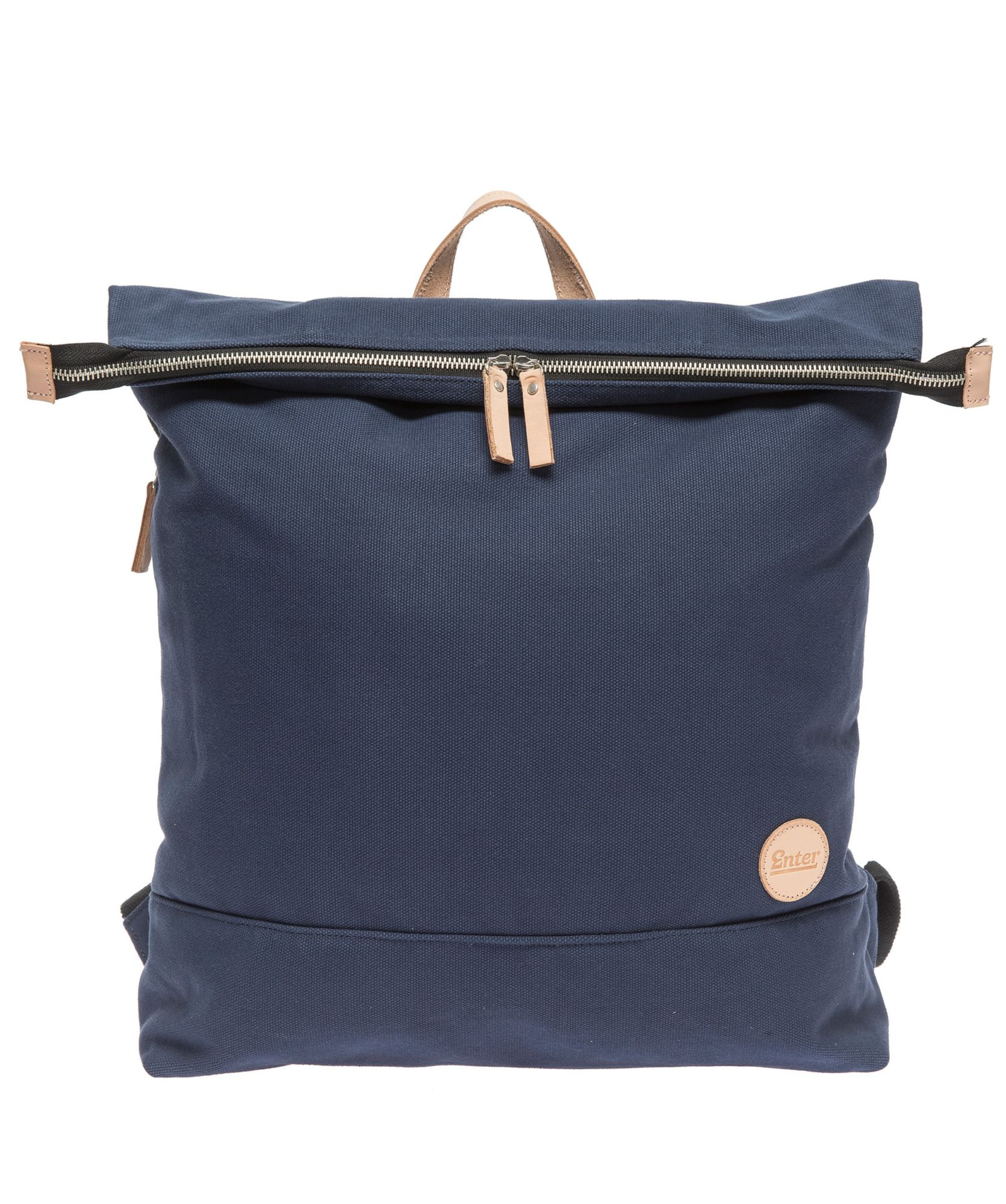 ENTER Enter Rucksack mit Laptop-Trennwand, »Top Zip Backpack, Navy/Natural«