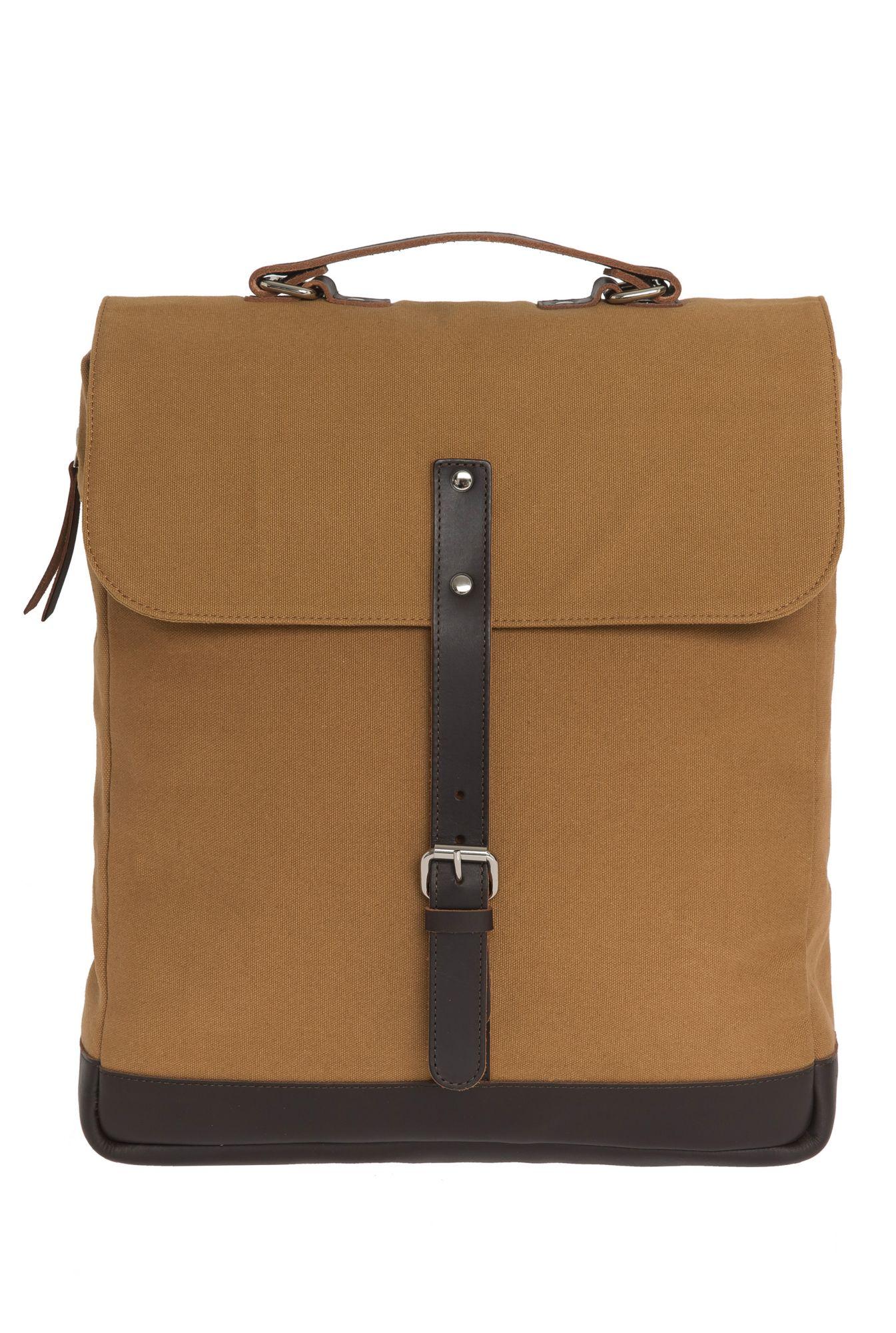 ENTER Enter Messenger Rucksack, »Messenger Backpack, Khaki/Dark Brown«
