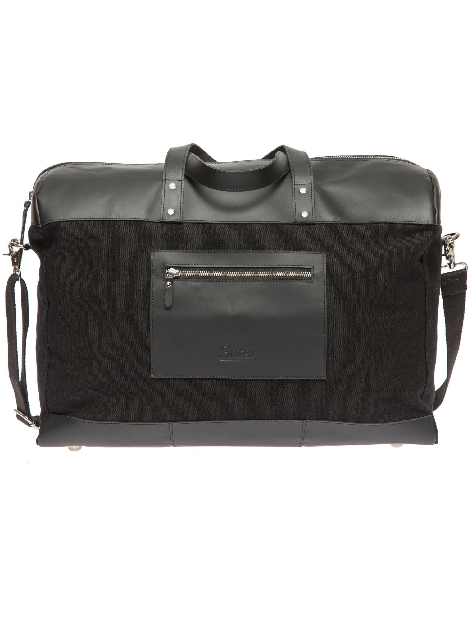 ENTER Enter Reisetasche, »Duffel Canvas & Leather, Black«