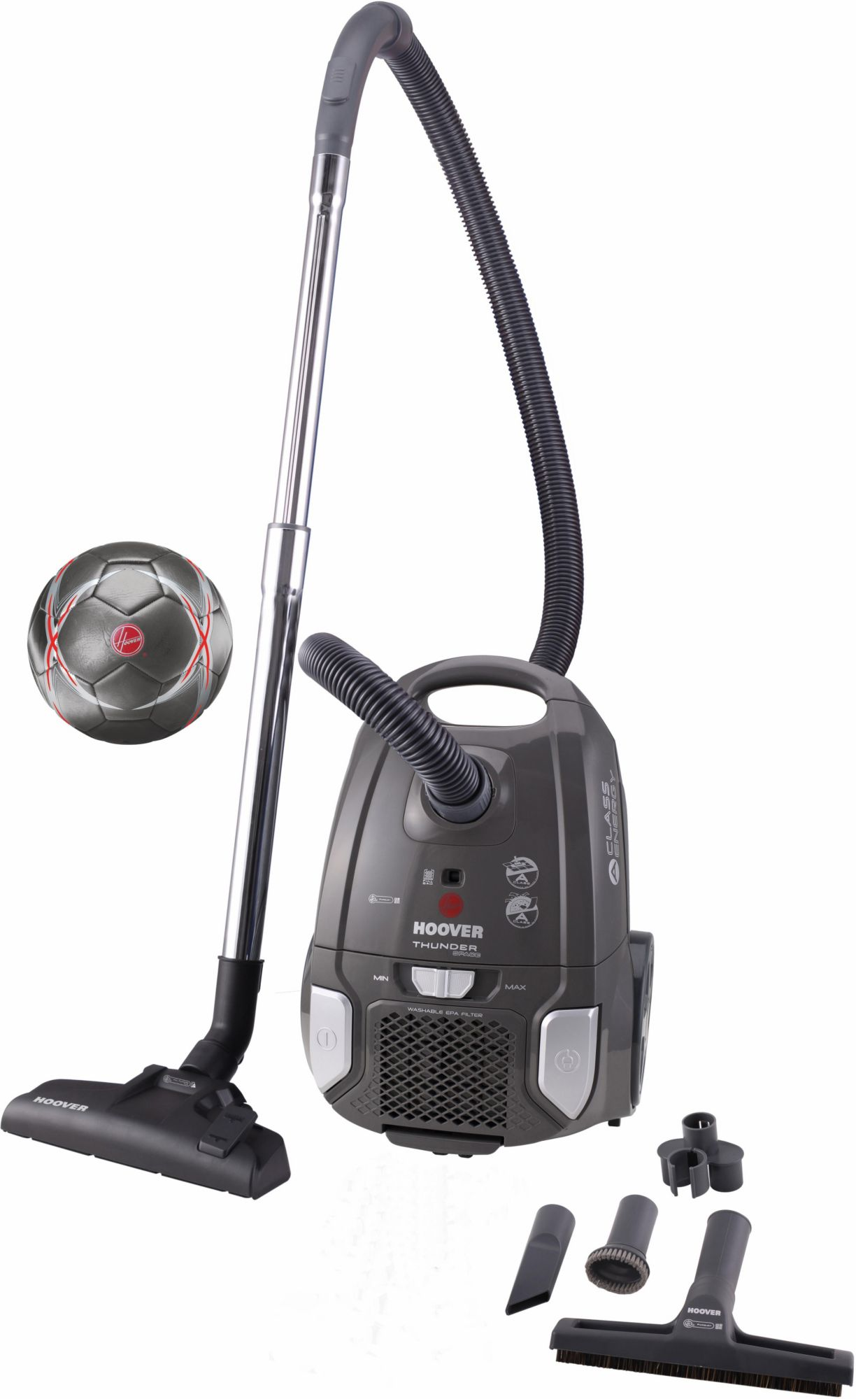 HOOVER Hoover Bodenstaubsauger Thunder Space TS70_TS2S, Energieklasse A, schwarz / silber