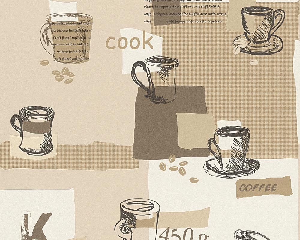 LIVINGWALLS A.S. Creation Strukturprofiltapete Faro 4 Kaffee Braun