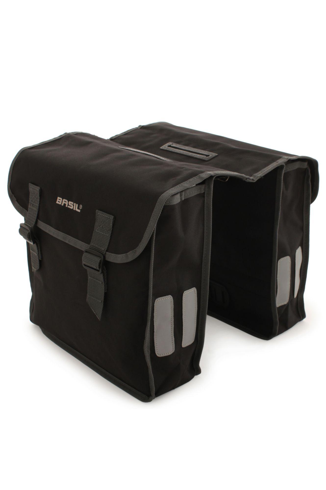 BASIL  Gepäckträger-Doppeltasche, schwarz, »Mara«