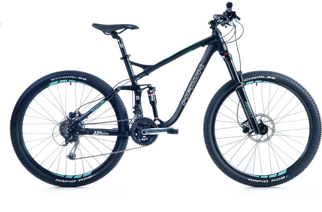 HAWK Hawk Mountainbike »Thirtythree FS«, RH 50, 27,5 Zoll, 24 Gang, Hydraulische Scheibenbremsen