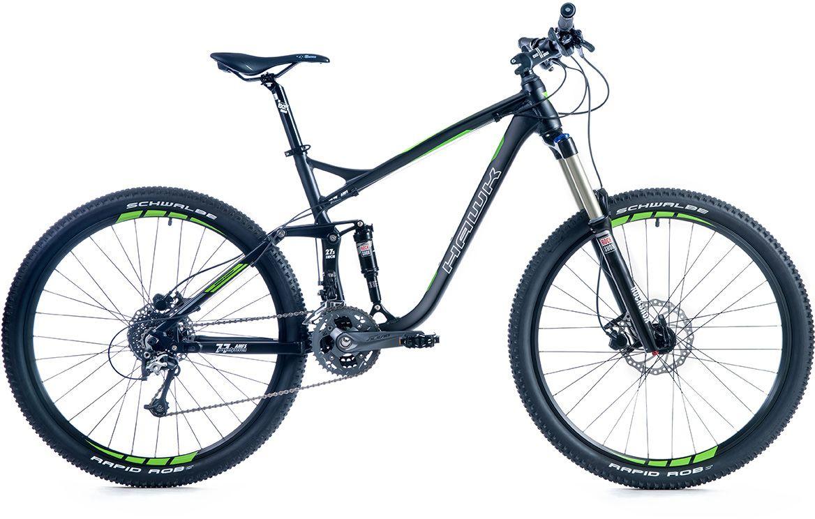 HAWK Hawk Mountainbike »Seventyseven «, RH 50, 27,5 Zoll, 27 Gang, Hydraulische Scheibenbremsen