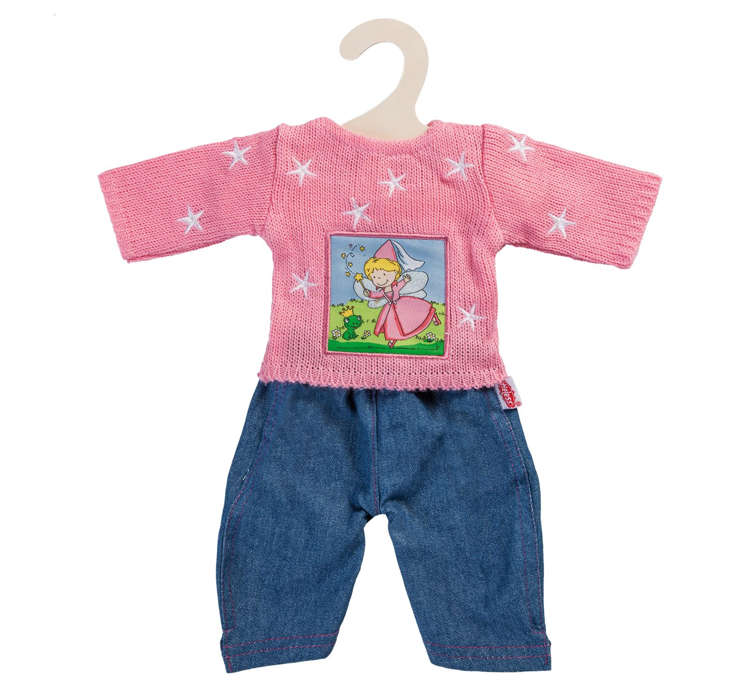 HELESS® Heless® Puppenkleidung  Gr. 35-45 cm, »Pullover rosa mit Jeans« (2tlg.)