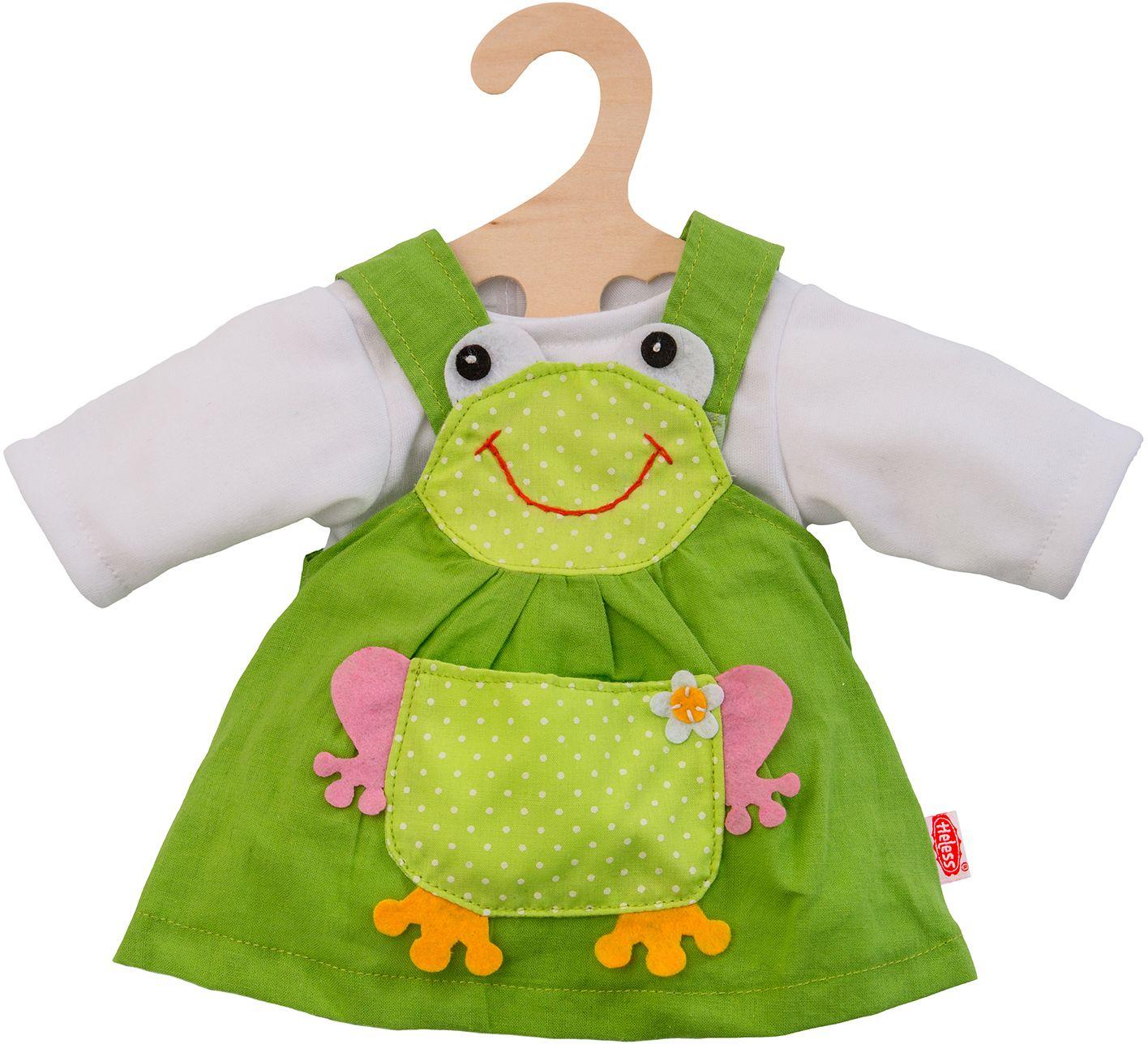HELESS® Heless® Puppenkleid Größe 28-35 o. 35-45 cm, »Froschkleid« (2tlg.)