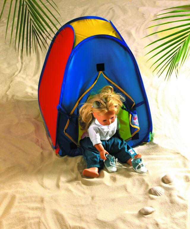 HELESS® Heless® Pop Up Zelt für Puppen mit Aufbewahrungsbeutel