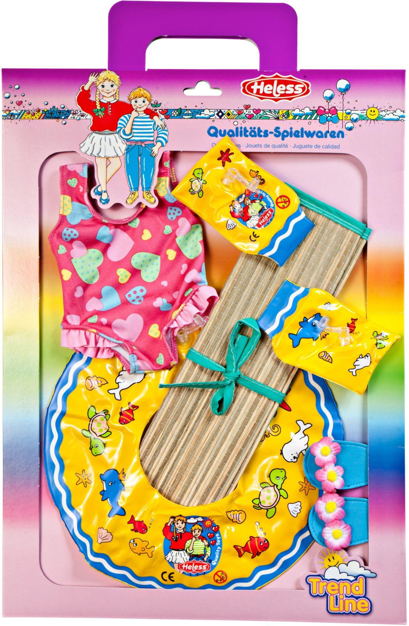 HELESS® Heless® Schwimmset für Puppen Größe 35-45 cm