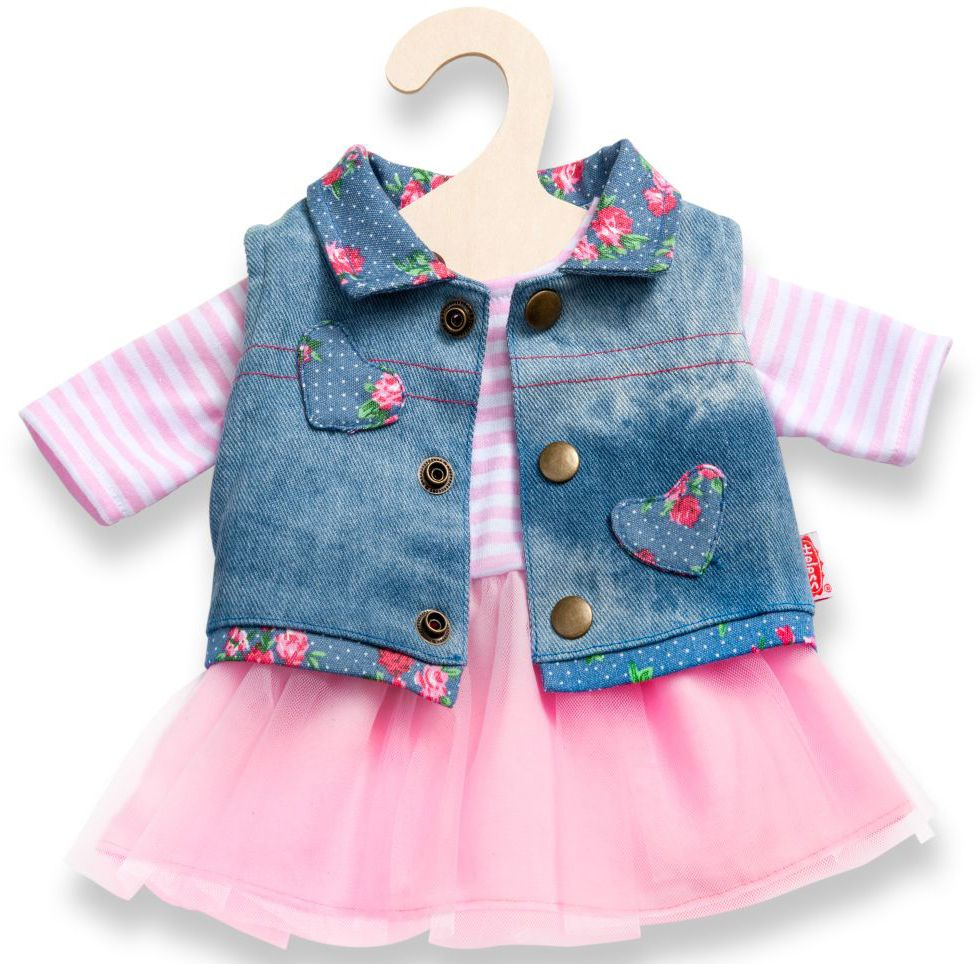 HELESS® Heless® Puppenkleidung Größe 28-35 o. 35-45 cm, »Tüllkleid mit Jeansweste« (2tlg.)