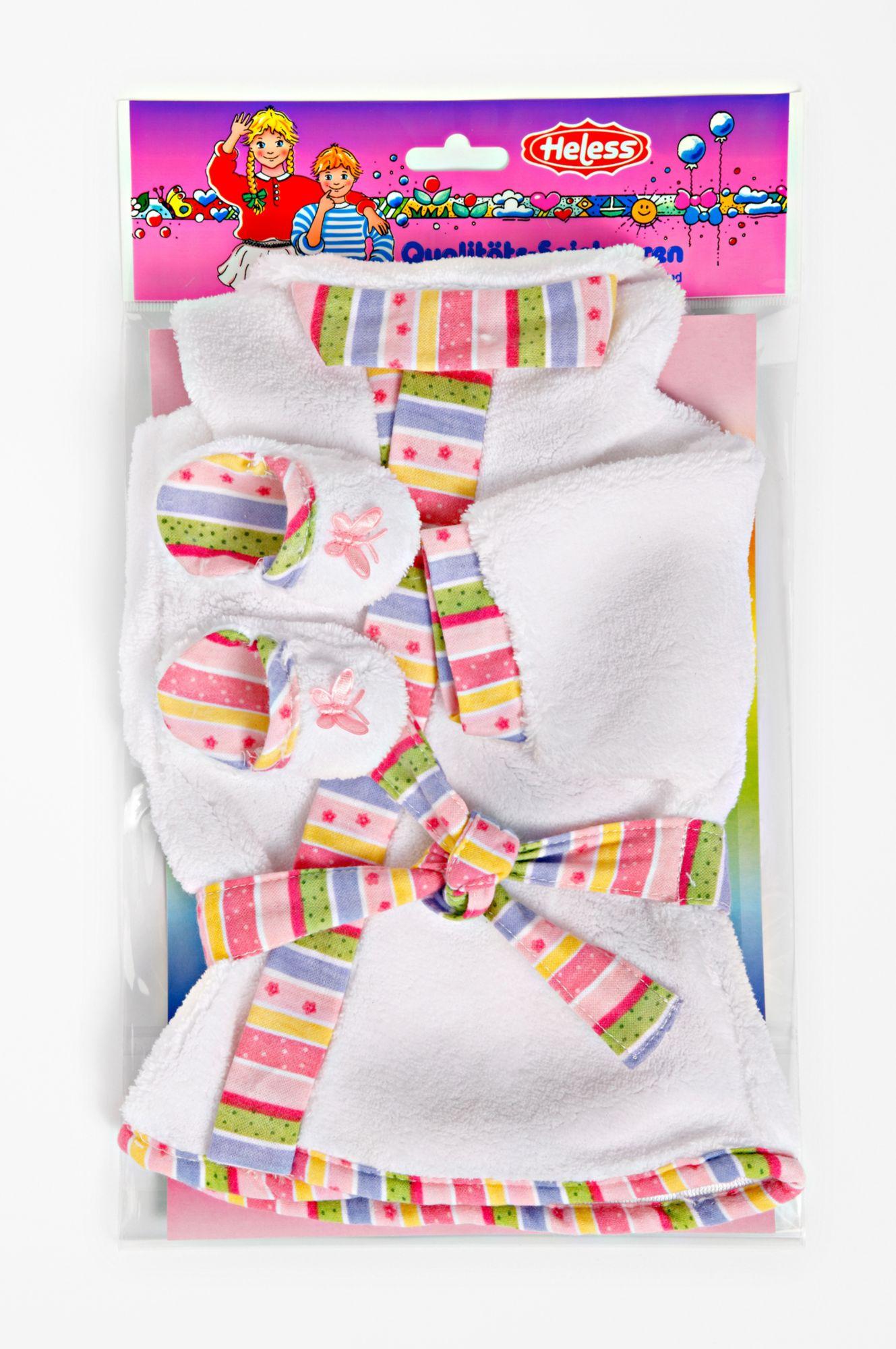 HELESS® Heless® Puppenkleidung Größe 35-46, »Bademantel mit Pantoletten« (3tlg.)