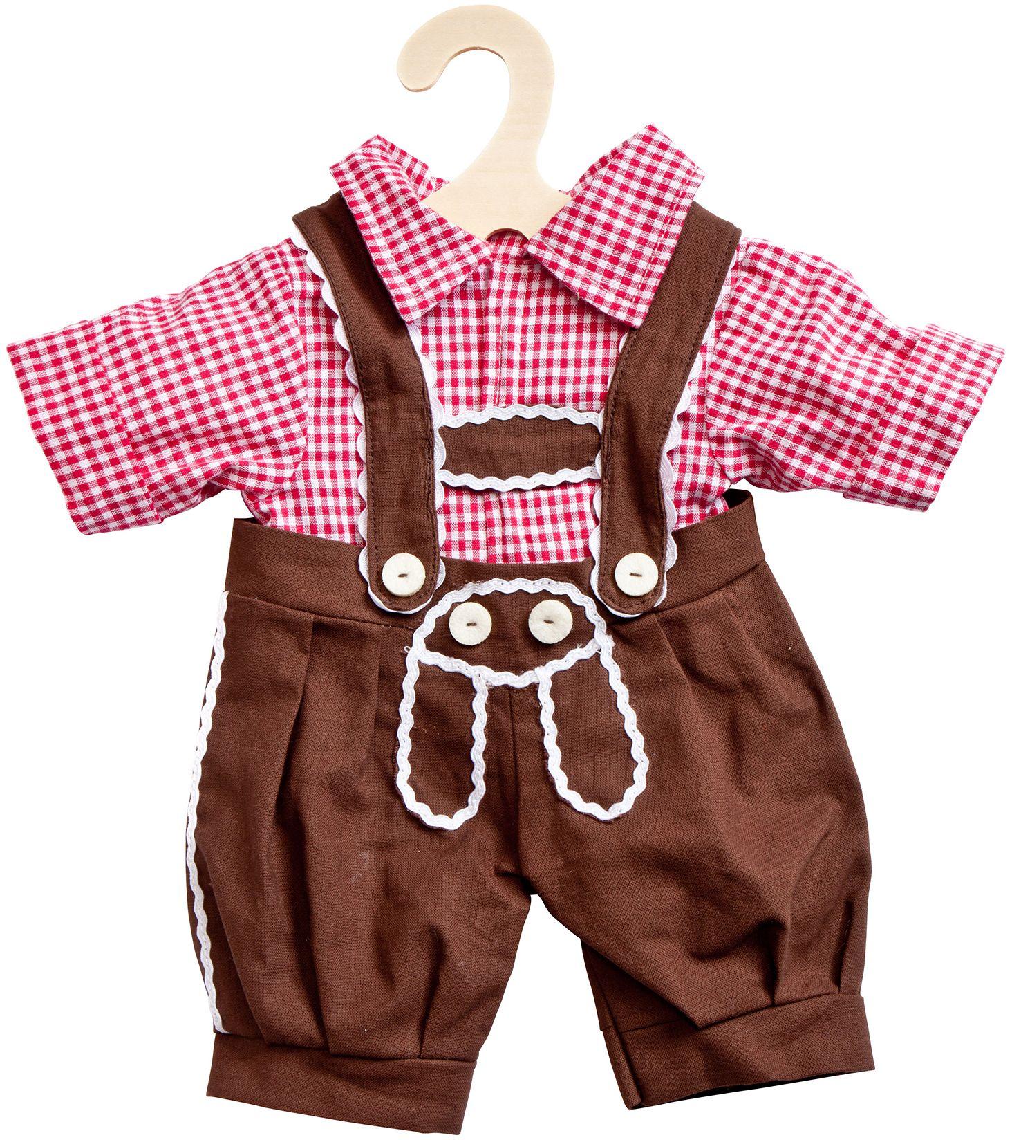 HELESS® Heless® Puppenkleidung Größe 28-33 cm, »Kniebundhose mit Hemd« (2tlg.)