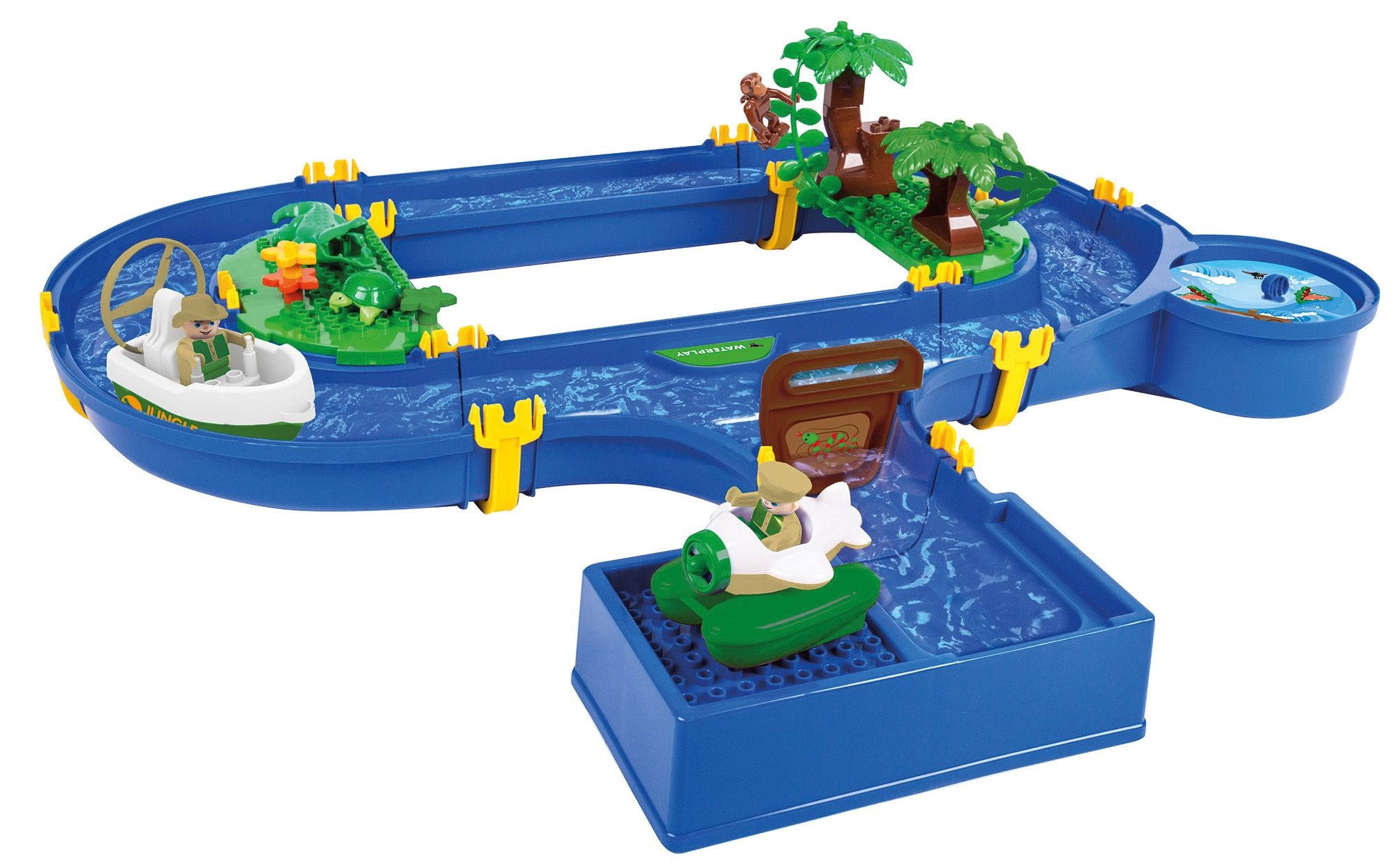 BIG  Wasserbahn mit Wasserturbine, » Waterplay Jungle Adventure« (32tlg.)
