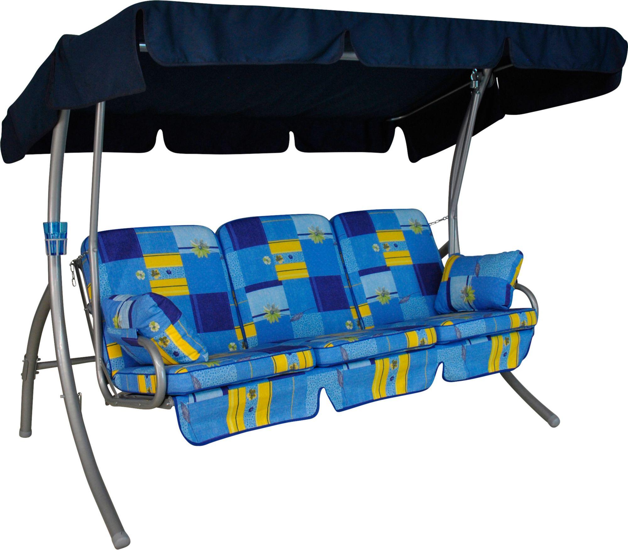 ANGERER FREIZEITMÖBEL  Hollywoodschaukel »Comfort Toledo«, 3-Sitzer, blau