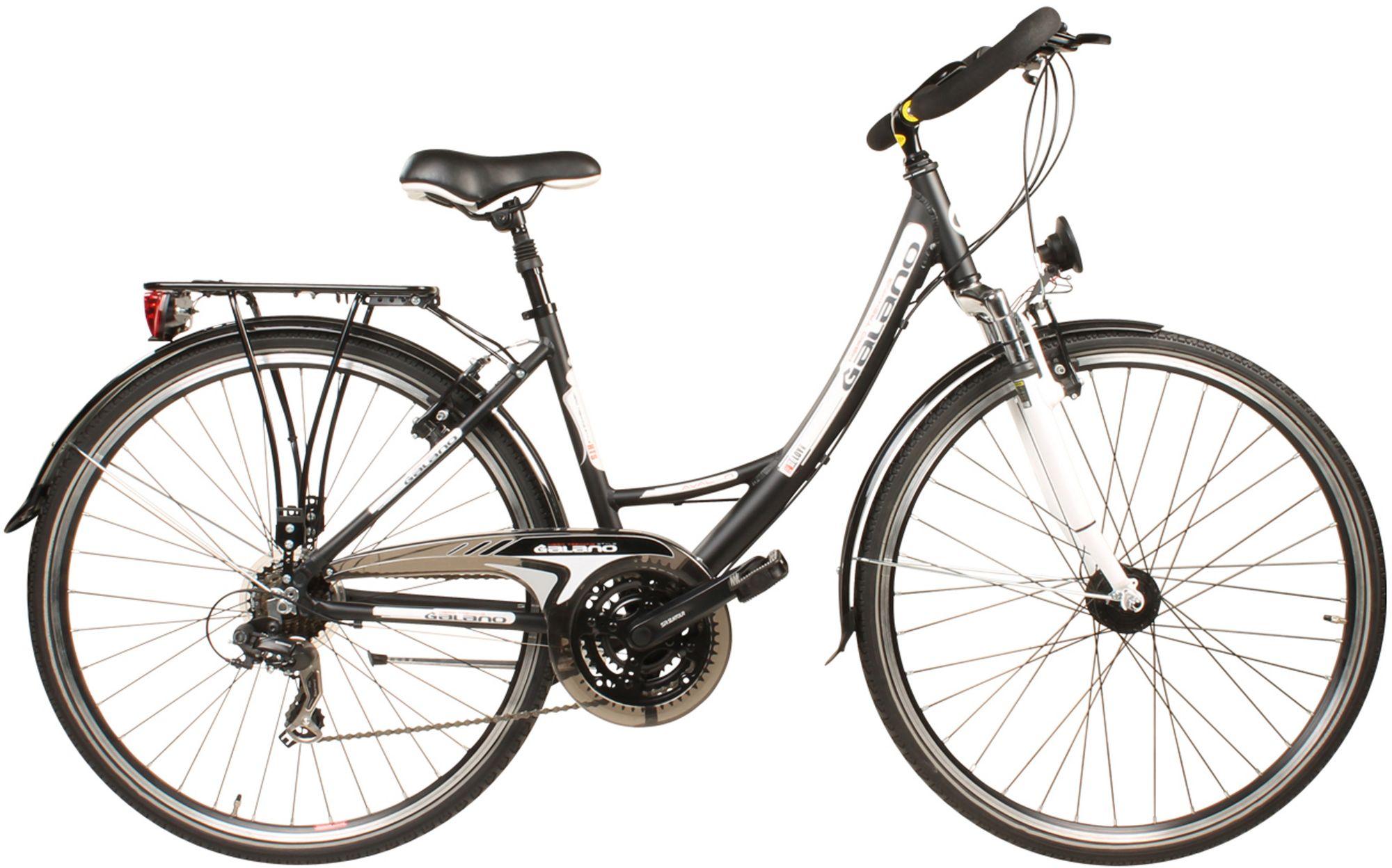 GALANO Galano Trekkingrad, Damen, Tourenlenker, 21 Gang Shimano Kettenschaltung, schwarz, »Avalon«
