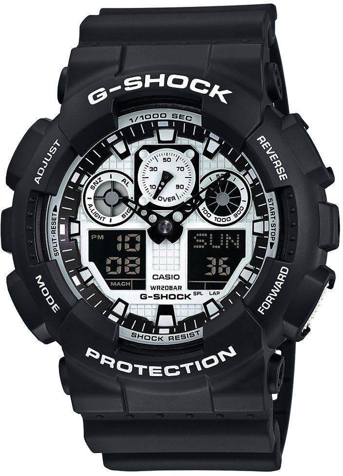 CASIO G SHOCK Casio G-Shock Chronograph »GA-100BW-1AER«