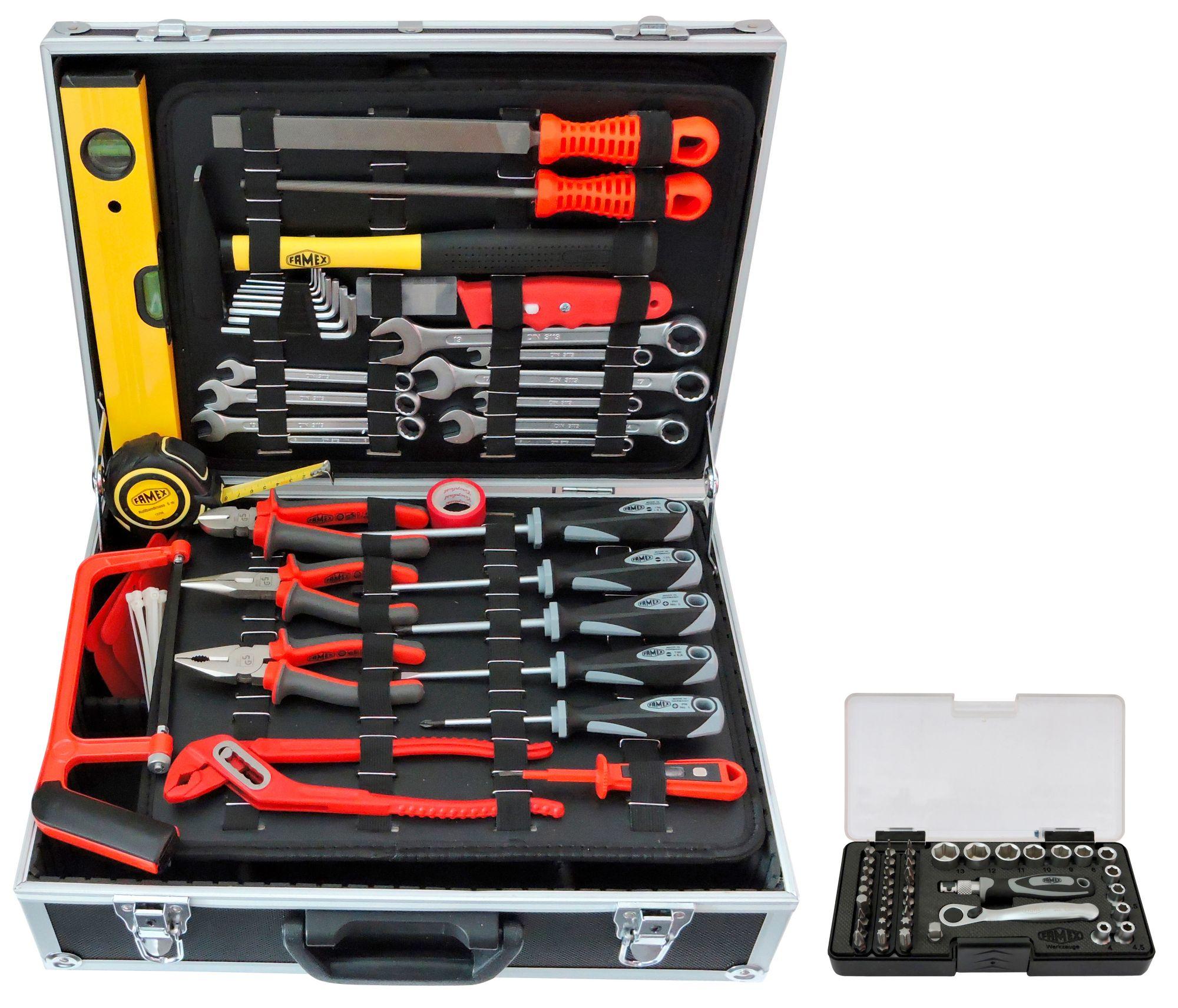 FAMEX Sparset: Werkzeugkoffer »754-50« inkl. Steckschlüsselsatz
