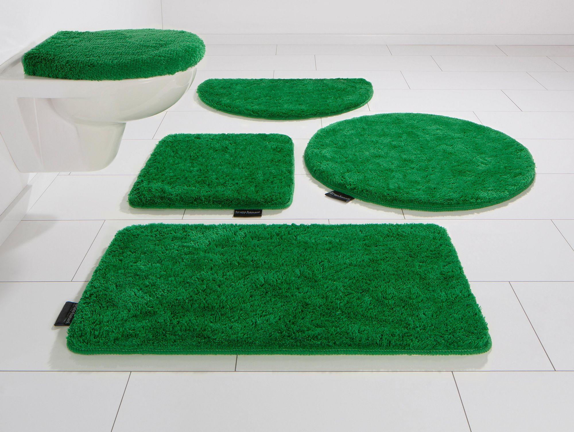 BRUNO BANANI Badematte, 3 tlg. Stand WC-Set, Bruno Banani, »Lana«, Höhe 25 mm, rutschhemmender Rücken