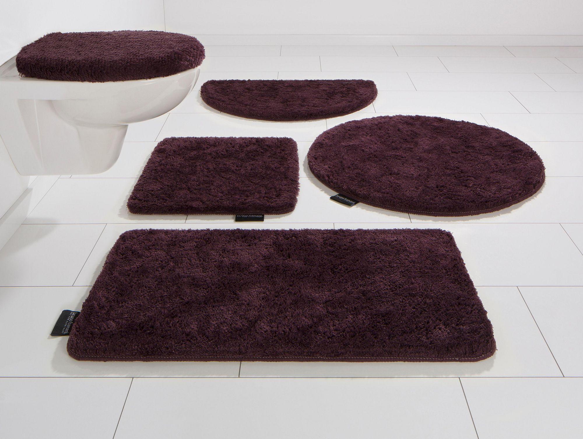 BRUNO BANANI Badematte, 3 tlg. Hänge WC-Set, Bruno Banani, »Lana«, Höhe 25 mm, rutschhemmender Rücken