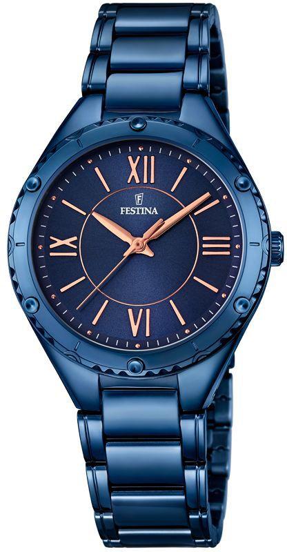 FESTINA Damen-Armbanduhr Festina blau