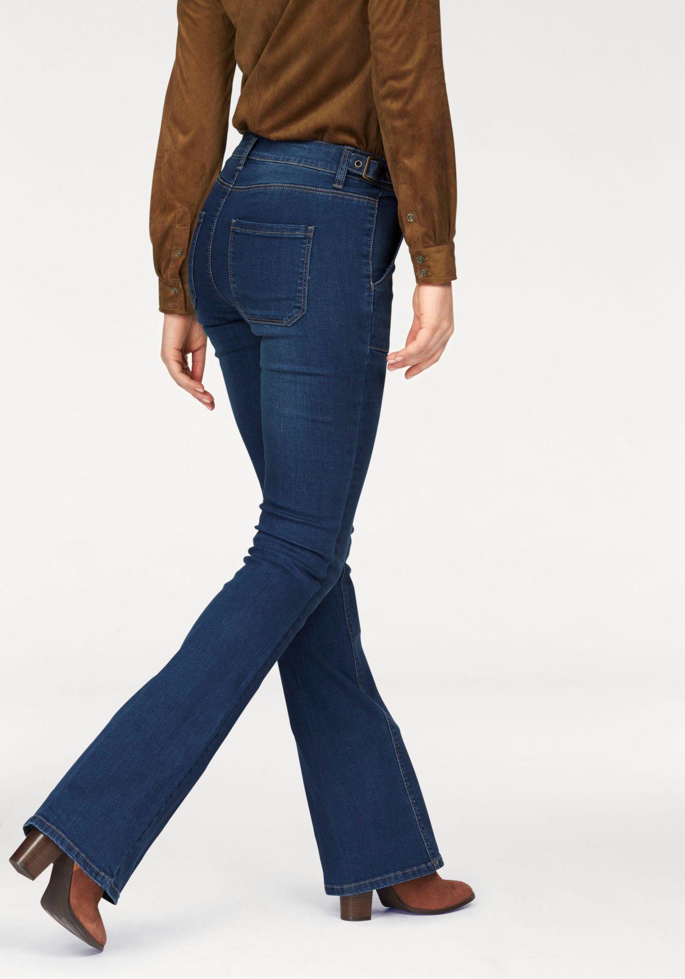 ARIZONA Arizona Bootcut-Jeans »mit seitlich verstellbarem Riegel«