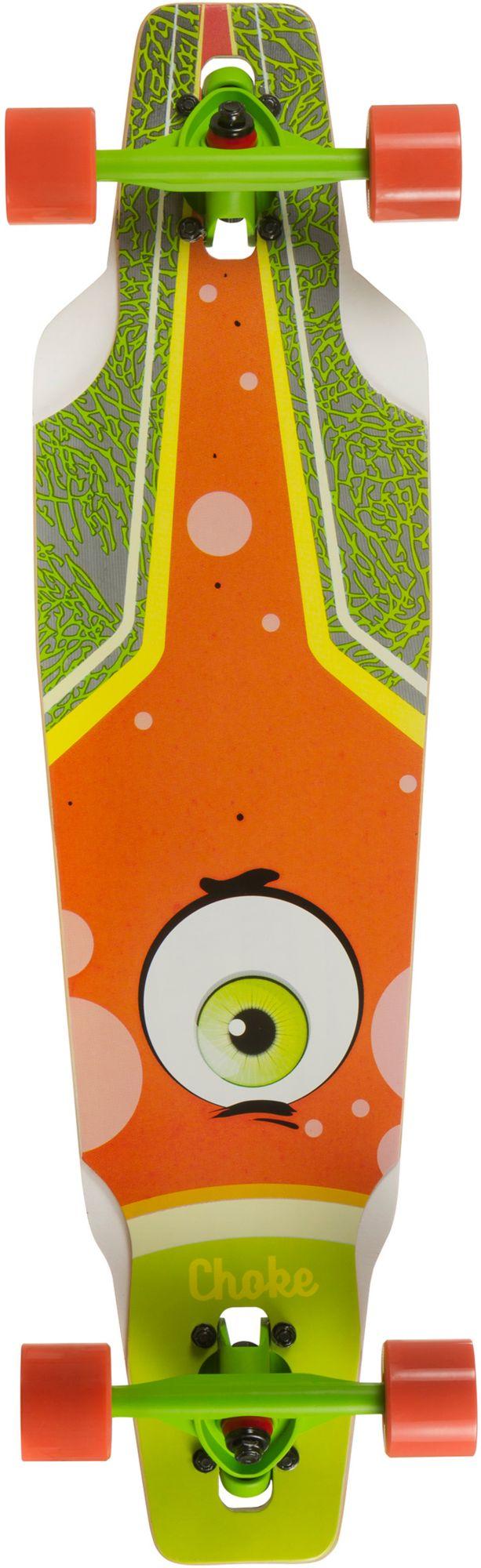 CHOKE Choke Longboard, grün-orange, »Junior Eye Drop«
