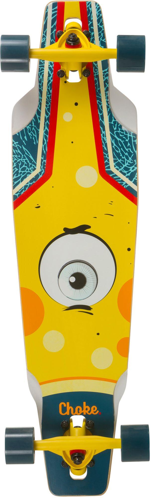 CHOKE Choke Longboard, blau-gelb, »Junior Eye Drop«