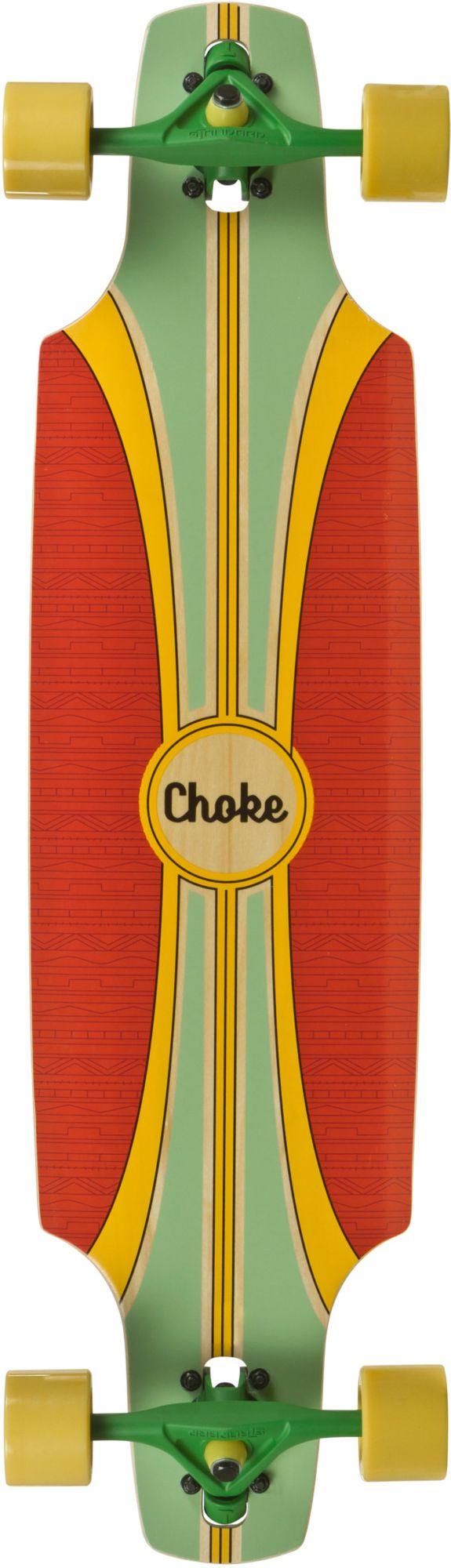 CHOKE Choke Longboard, grün-rot, »Tracer Pro Dropthrough«