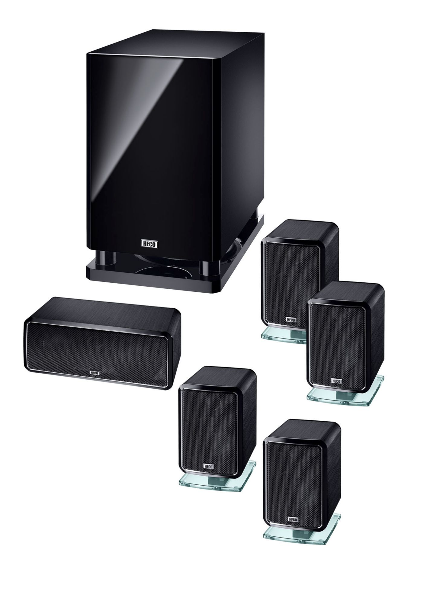 HECO Heco Ambient 5.1A, Heimkino-System mit Aktiv-Subwoofer