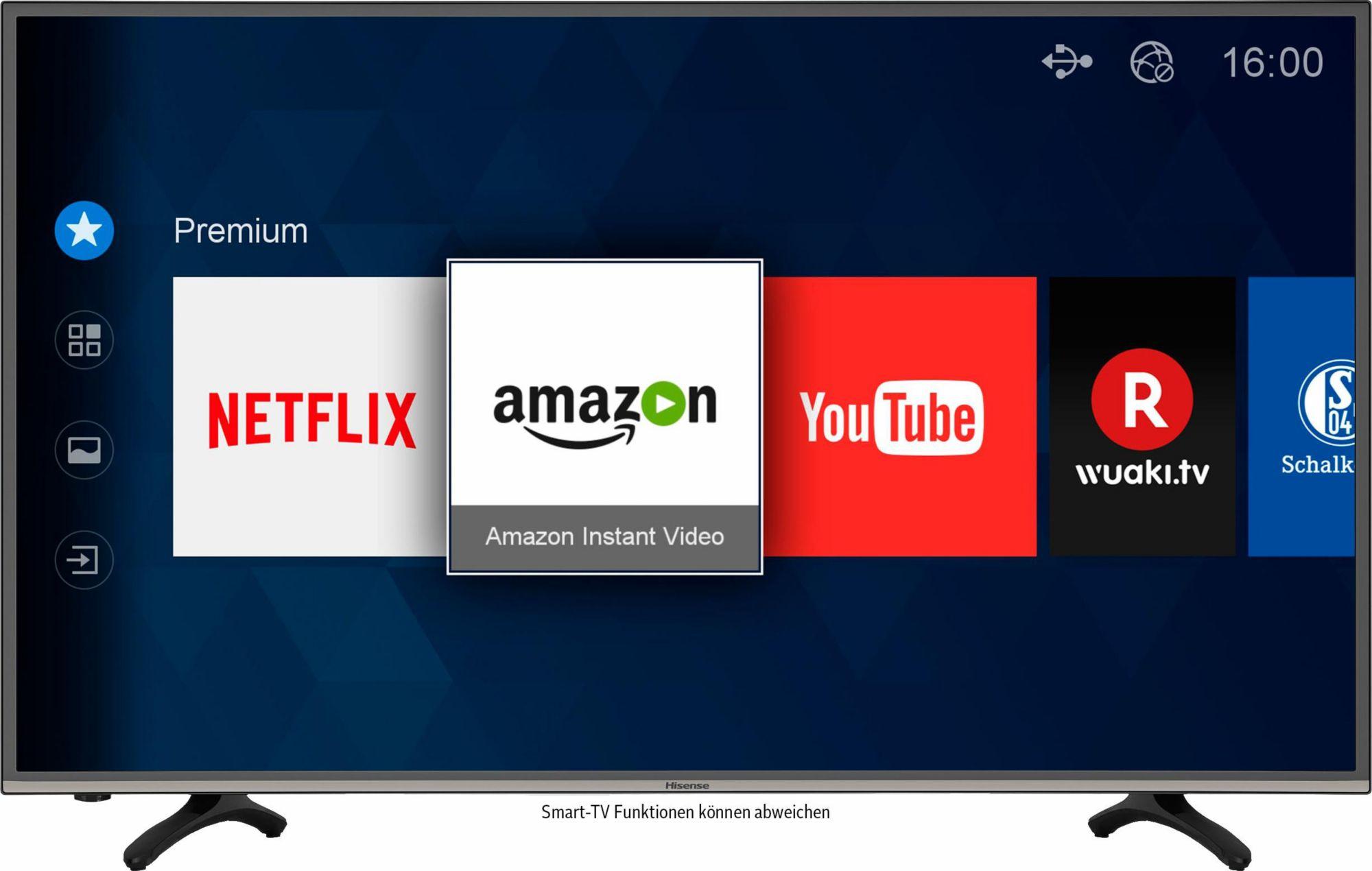 HISENSE Hisense H43MEC3050, LED Fernseher, 108 cm (43 Zoll), 2160p (4K Ultra HD), Smart-TV