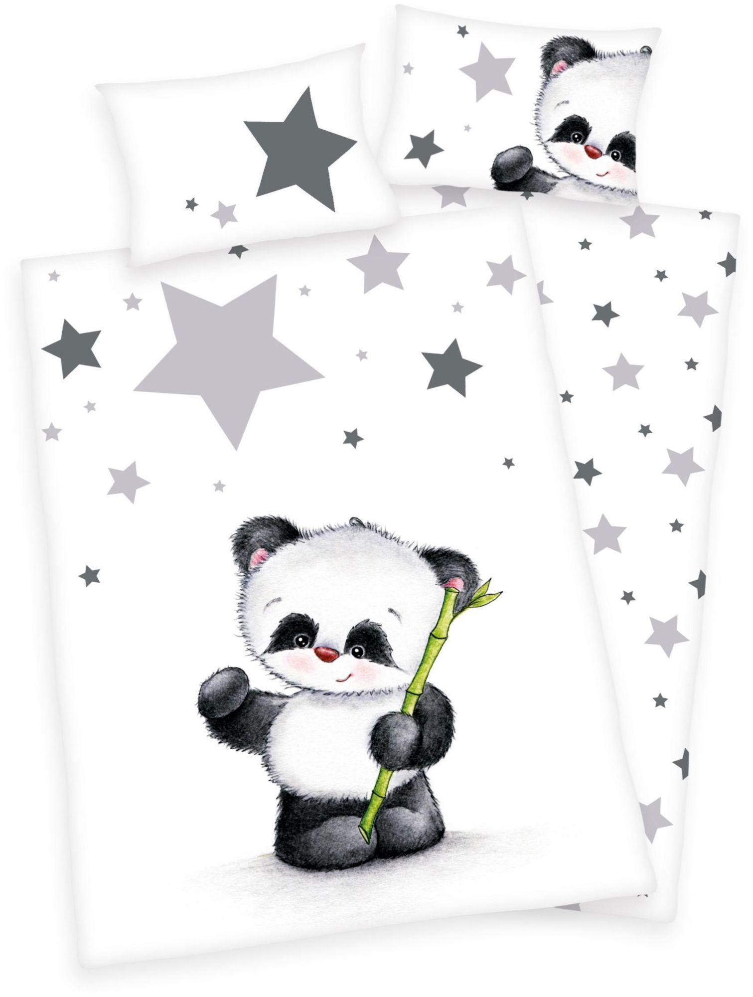 BABY BEST® Babybettwäsche, Baby Best®, »Jana Panda«, mit Panda