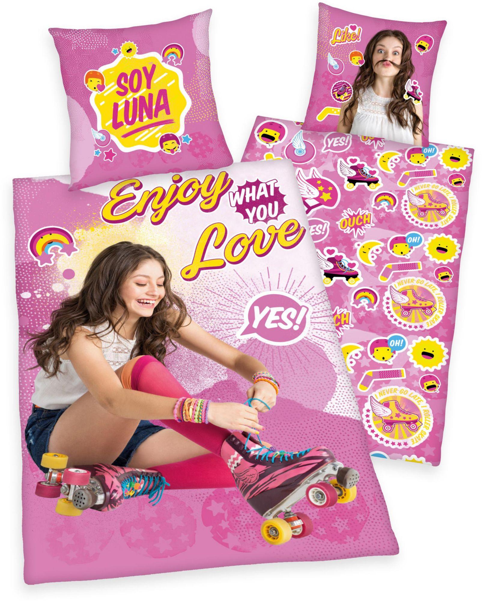 DISNEY Kinderbettwäsche, Disney, »Soy Luna«, mit Luna Portrait