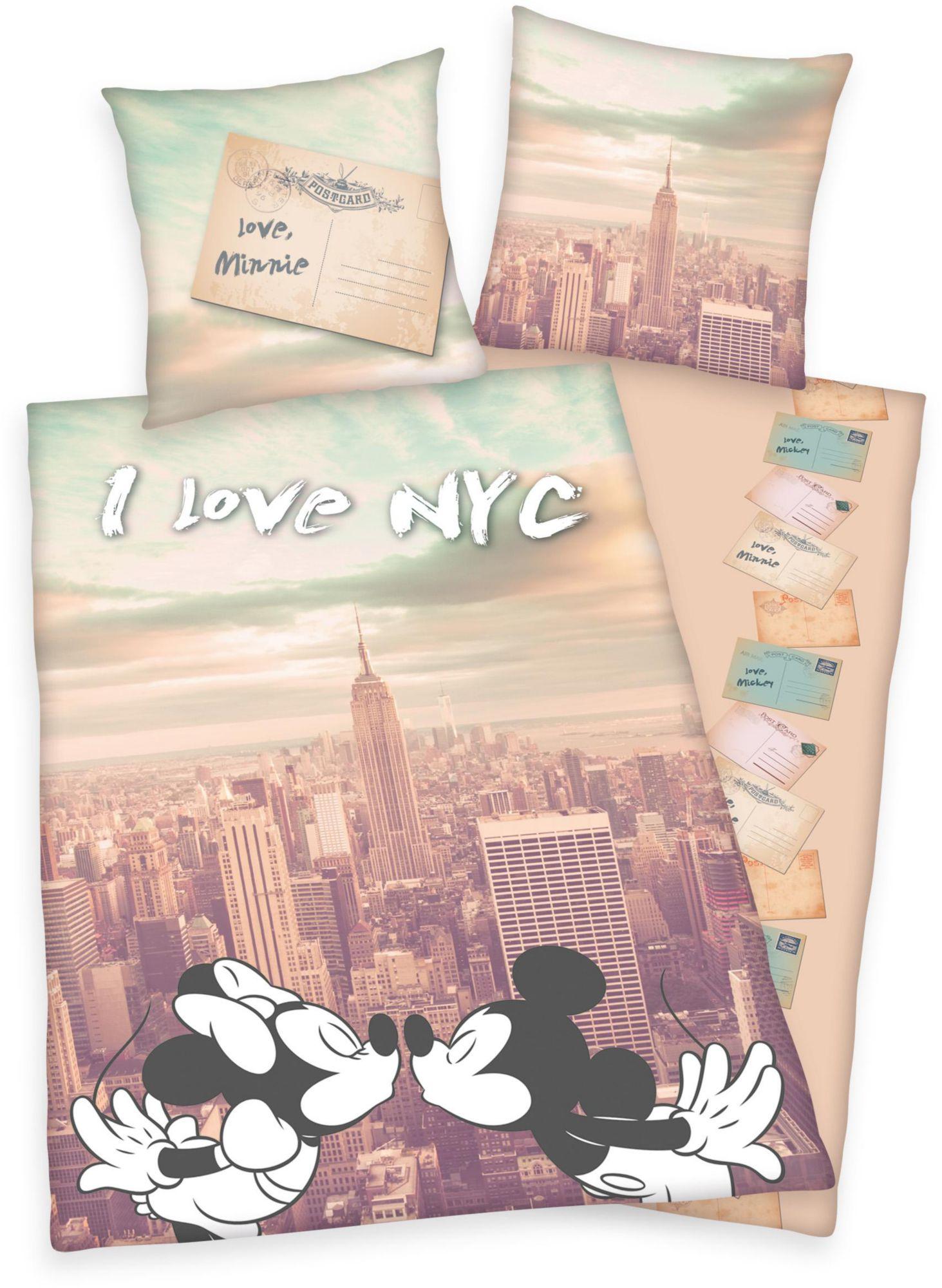 DISNEY Jugendbettwäsche, Disney, »Mickey & Minnie New York«