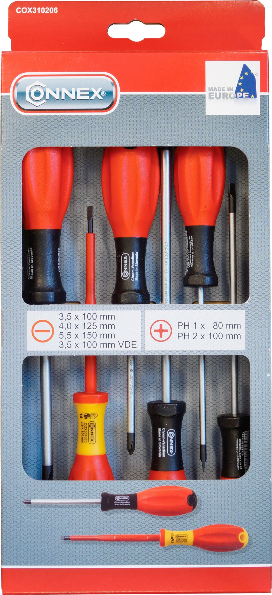 CONNEX Connex Schraubendrehersatz »COX310206«, 6-tlg, sortiert
